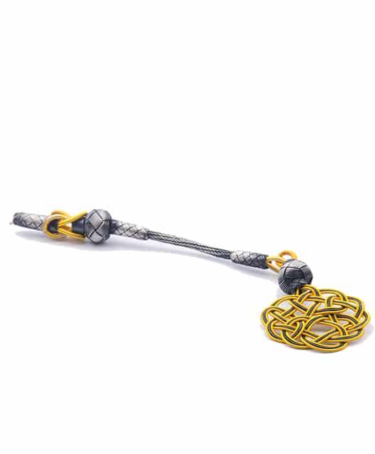 925 Ayar Gümüş Gold Kazazi Püskül