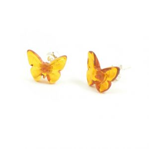 Kelebek Kehribar Küpe